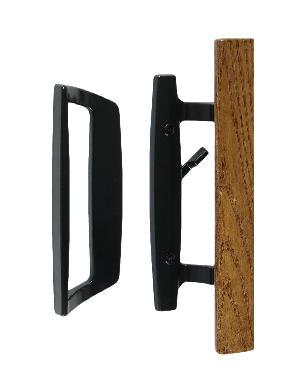 Bali Nai Sliding Glass Door Handle and Mortise Lock Set with Oak ...