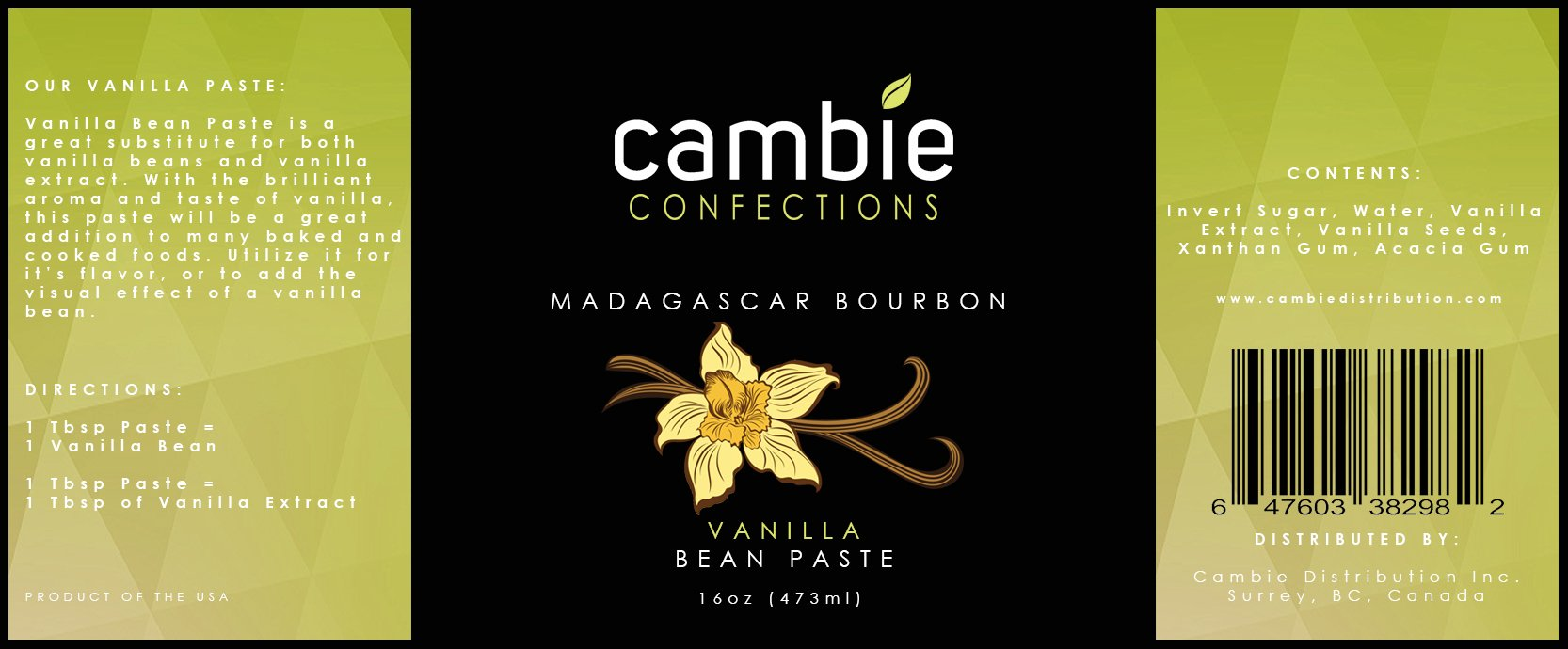 Cambie Confections Madagascar Bourbon Vanilla Bean Paste, 16 oz by Cambie Confections (Image #3)