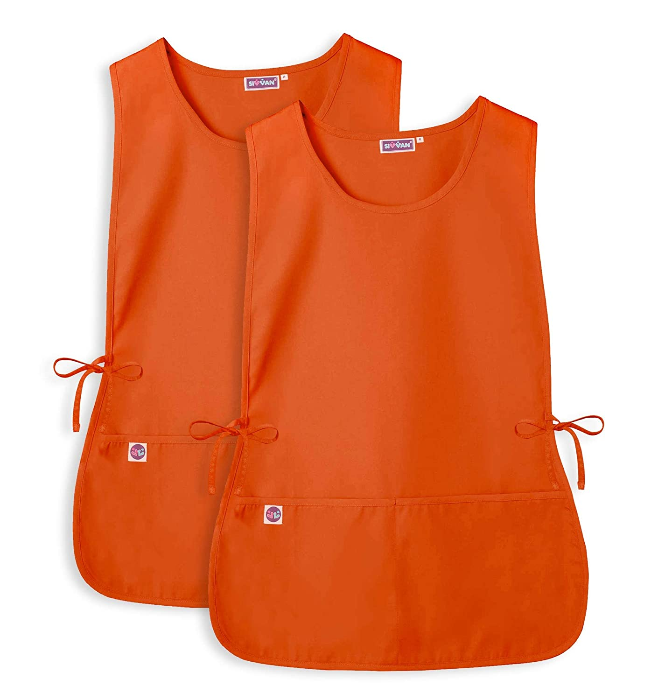 - Adjustable Waist Ties 2 Deep front Pockets Sivvan Unisex Cobbler Apron 2 Pack