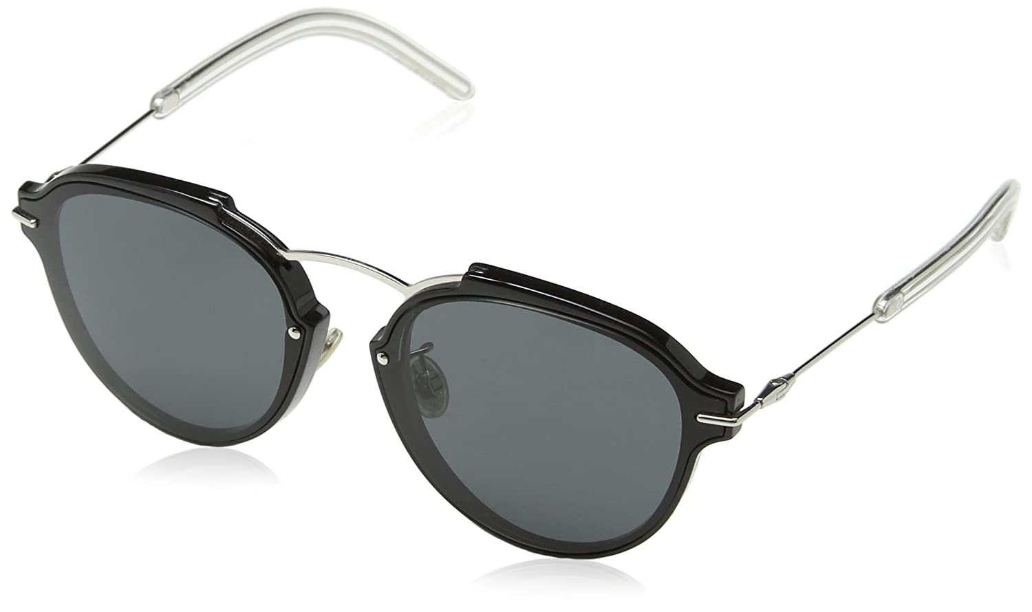 CHRISTIAN DIOR Women's DIORECLAT P9 RMG Sunglasses, Black Pallad/Grey, 60