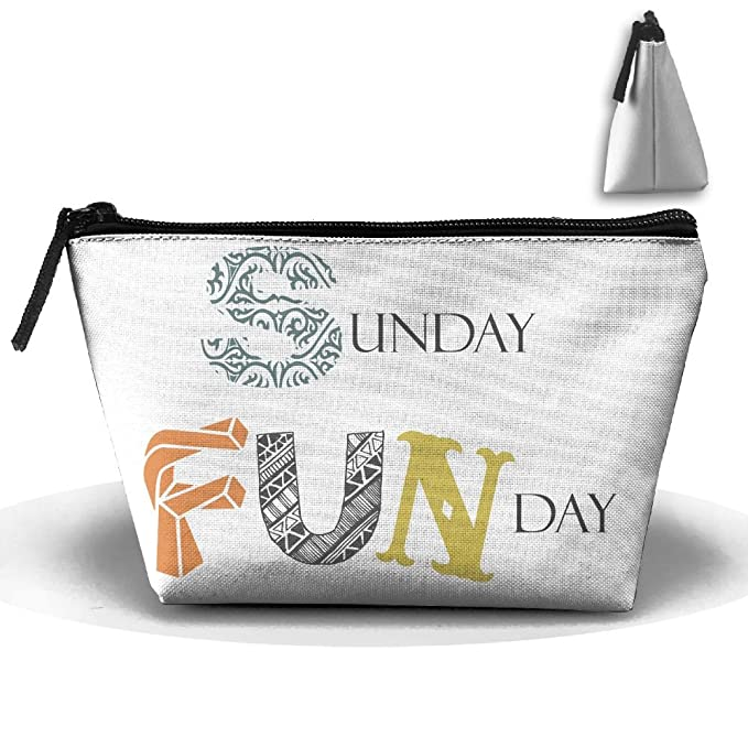 Amazon.com: Sunday Funday Makeup Bag Storage Portable Travel ...