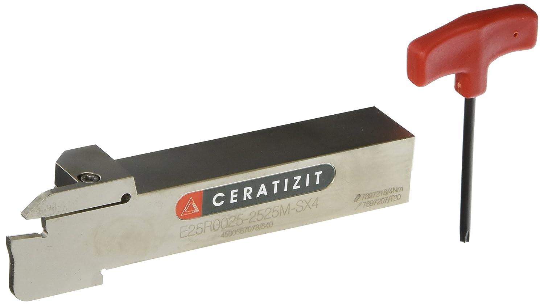 150 mm Overall Length 25 mm Height Right Side Ceratizit 11483597 SX4 Series Steel Monoblock Holder
