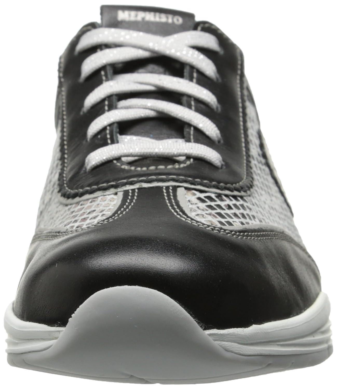 Mephisto Women's Yael Oxford B00OB2XH3U 10 B(M) US|Black Smooth/Light Grey Boa/Silver Pearl