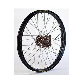 Dubya rueda trasera completa - Magnesio Talon Hub/negro Excel Takasago borde - 2,15 x 19: Amazon.es: Coche y moto