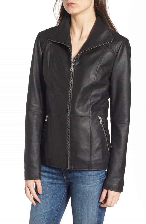 ANDREW MARC Fabian Leather Jacket-Black-XL