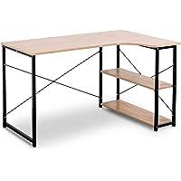 WOLTU #1047 Table d'ordinateur Table de Bureau Table de Travail en Bois et Acier,Environ 120x74x71,5 cm,12,8kg