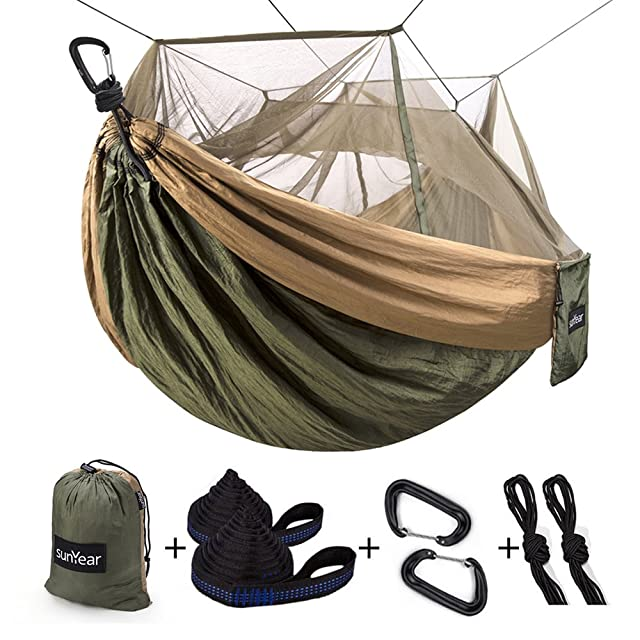 Sunyear Camping Hammock with Mosquito Net