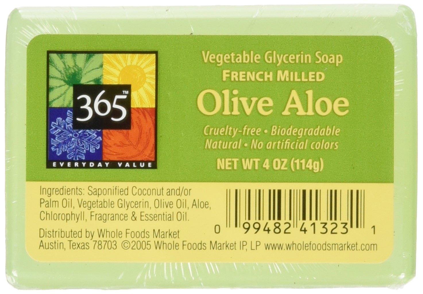 365 Everyday Value Olive Aloe Vegetable Glycerin Soap, 4 oz Whole Foods Market