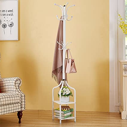 3eaaa88cfb3 Image Unavailable. Image not available for. Color  COAT RACK Metal Floor  Square ...