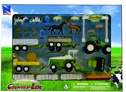 Farm Country Life Set Farm Wood With Accessories agriculture Play with Animals