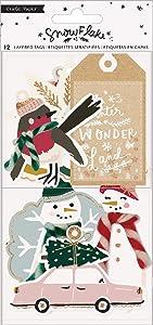 Crate Paper 350988 Cardstock & Vellum W/Twine Cardstock Tags, Multi