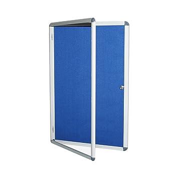 Viro imagen interior cerradura tablón de anuncios – Azul – 2 x A4 Hojas