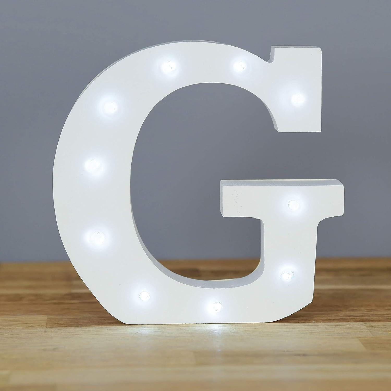 attaccatura di parete Lettera Z alimentato a batteria Up in Lights Decorative LED lettere bianche Wooden Sign