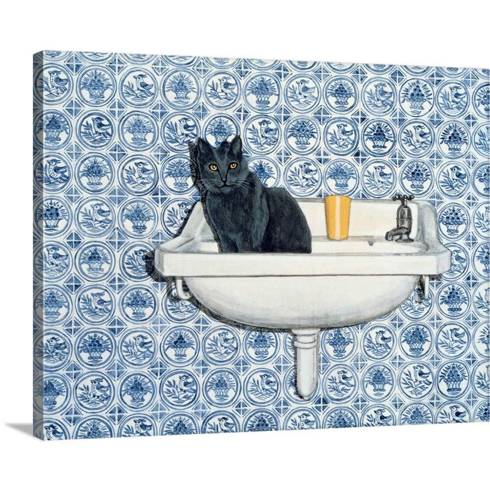 Rosie Ditzプレミアムシックラップキャンバス壁アート印刷題名My Bathroom Cat 24