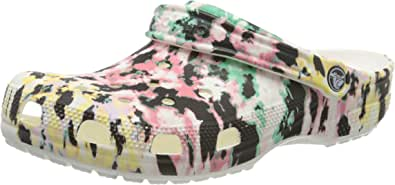 Crocs Men's and Women's Tie Dye Mania Clog|Casual Slip On Water Shoe
