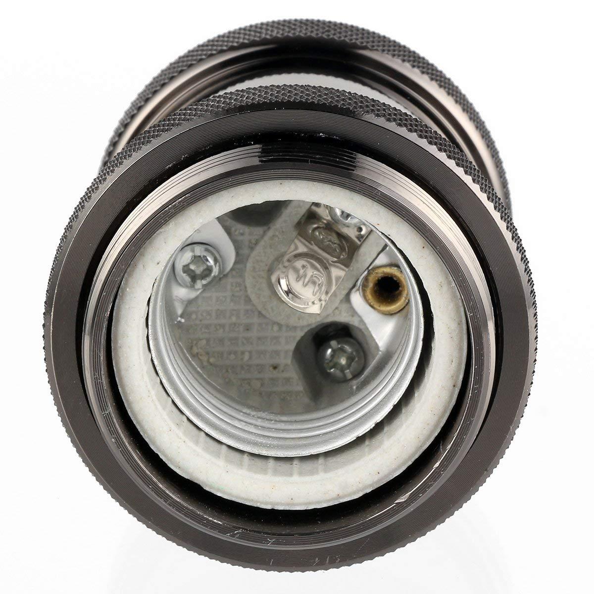 Lat/ón Edison E27 Adaptador Portal/ámparas S/ólido cer/ámic Soporte de l/ámpara de aluminio para colgante techo vintage soporte de iluminaci/ón