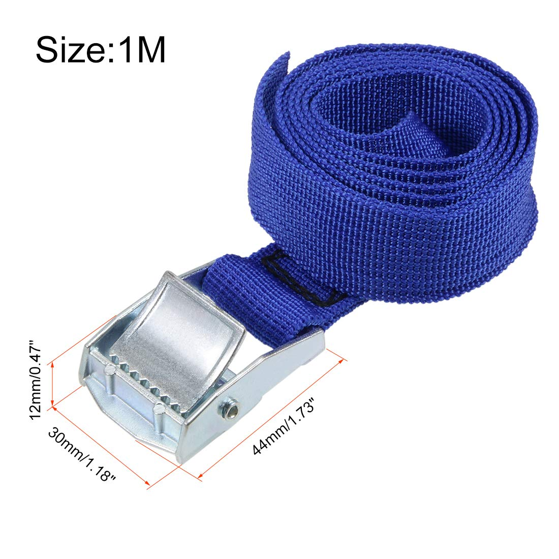 Zurrgurt Ladung Festbinden mit Schnalle 250kg Arbeitslast 2Mx25mm Blau sourcing map 2 Stk