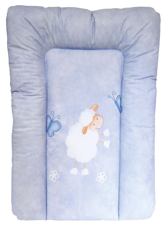 T/ÜV gepr/üft Schaf Wickelauflage 67 x 47 cm SOFTY von UNITED-KIDS /Ökotex Standard 100 blau