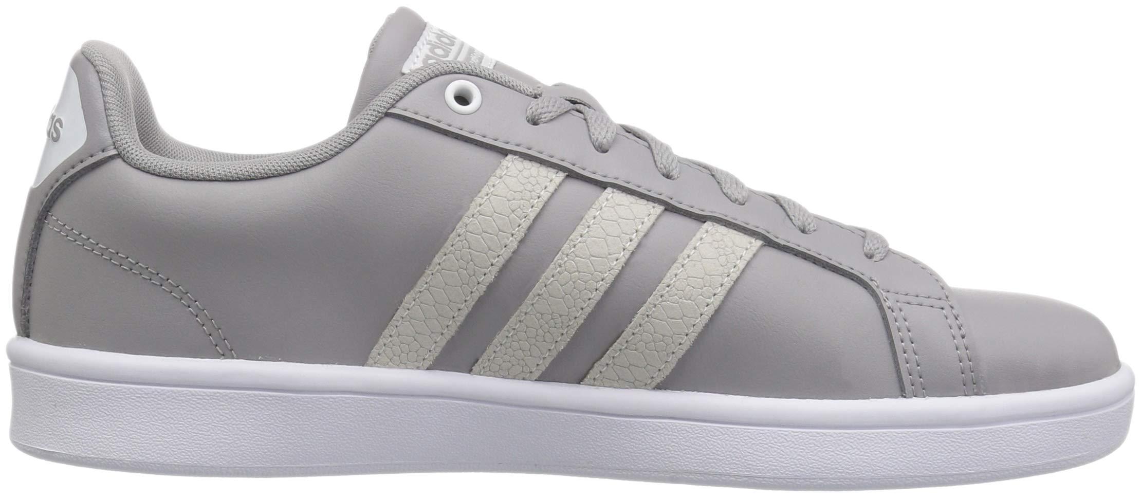 adidas Women's Cloudfoam Advantage Cl Sneaker, Light Granite/White/Light Granite, 10 M US