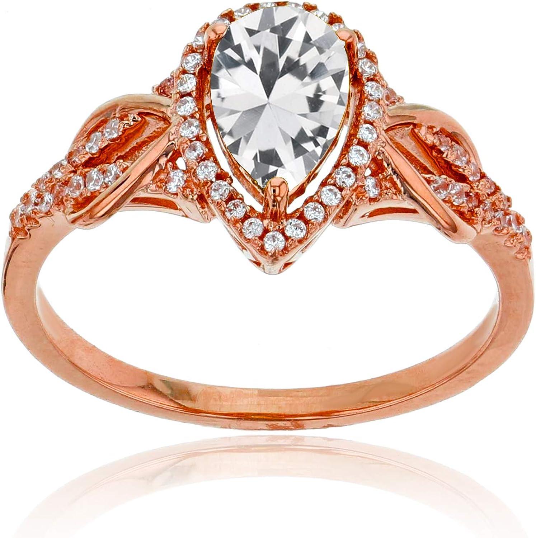 Prism Jewel 0.09CT G-H//SI1 Natural Diamond Light Weight 2-Row Ring