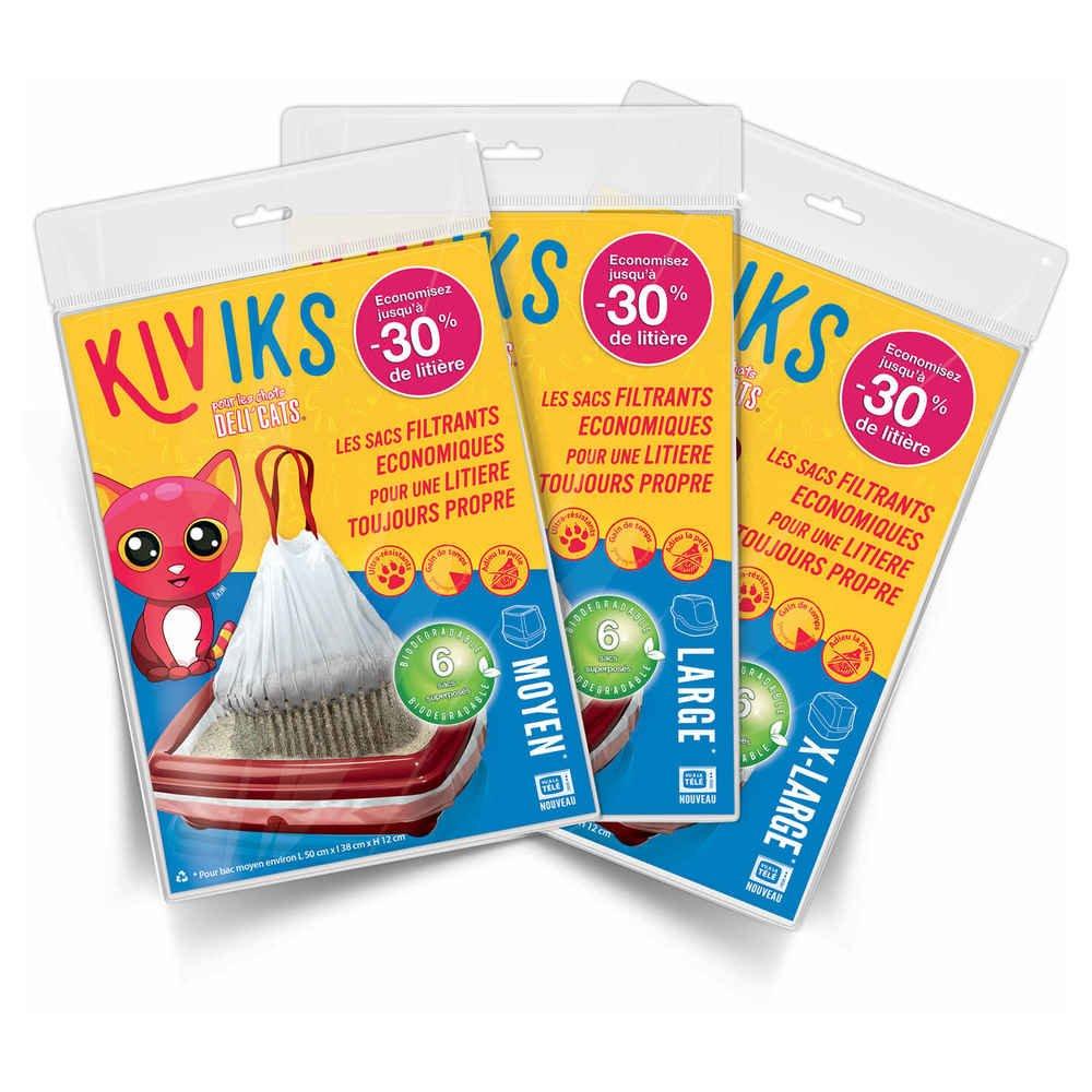 à Kiviks Superposés Filtrants Litière Biodégradables Sacs Taille 5f1qfwFv