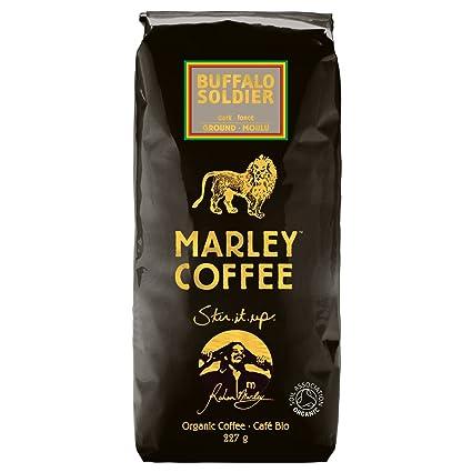 Marley Coffee - Suéter de café oscuro orgánico, 8.01 oz ...