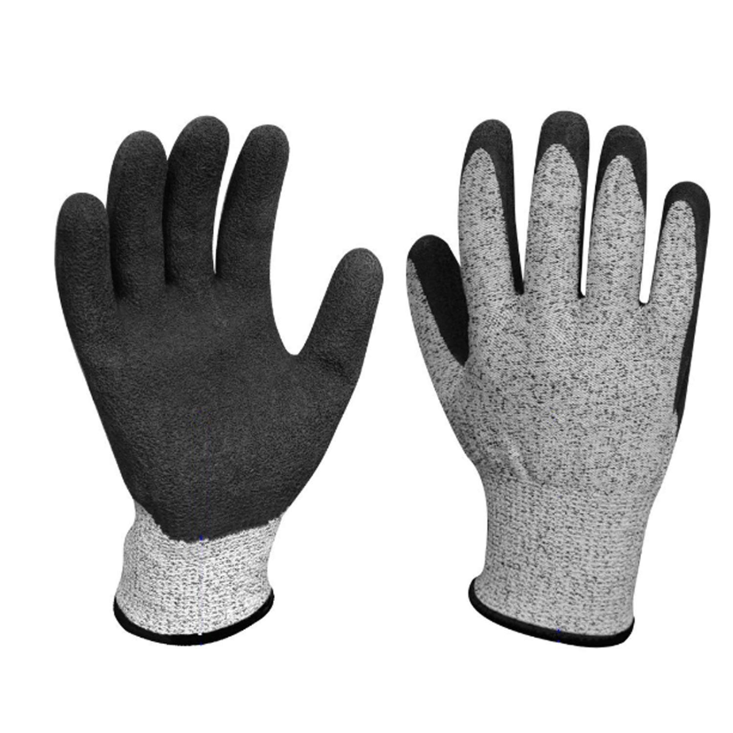 ACAO Textured Rubber Nitrile Palm Dipped/Coated for Construction, Men's X-Large Home Gardening (Color : 2 Pairs, Size : L-9(9.45 in)) by ACAO-Glove (Image #1)