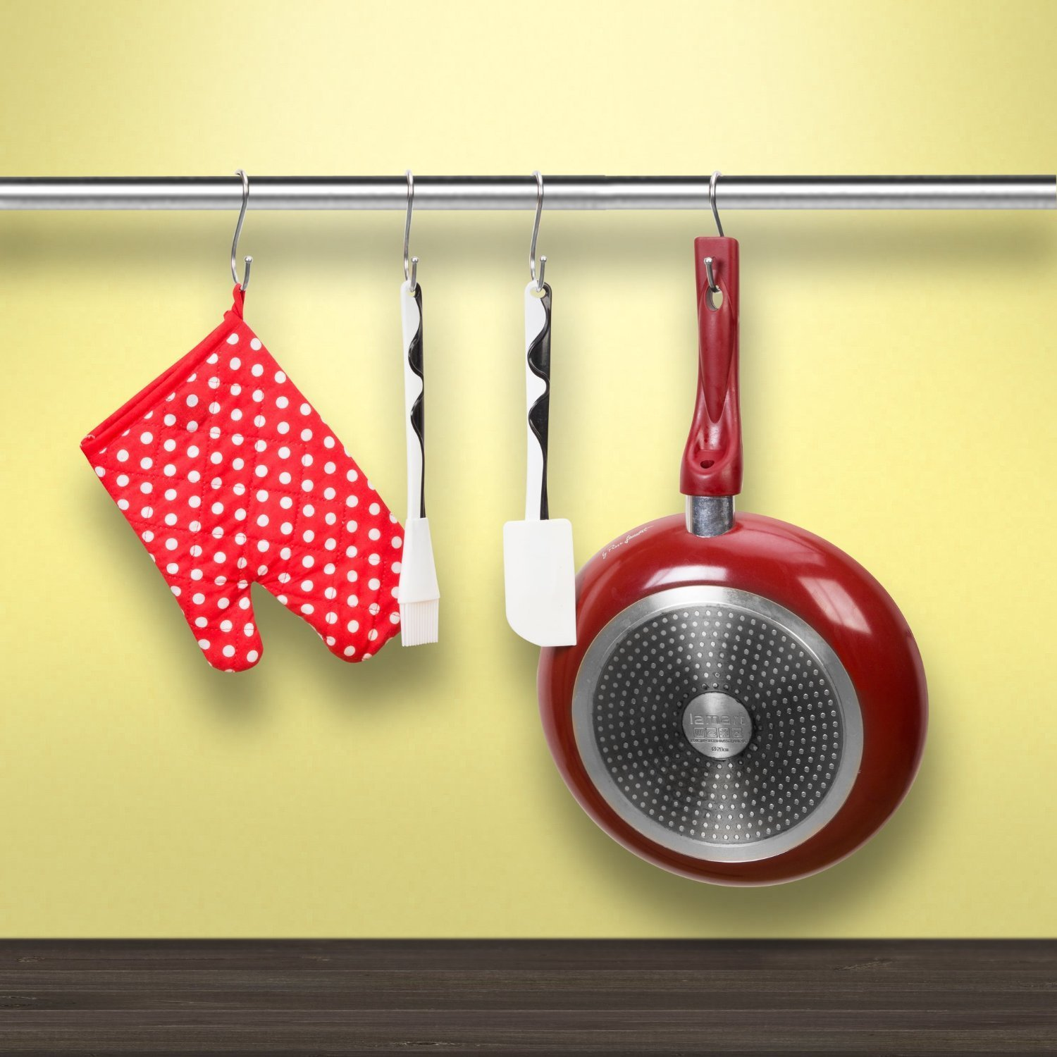 Ideal Pots Prudance Large Round S Shaped Stainless Steel Hanging Hooks Set 10 Hooks Perfect Clothing HPT6805 Pans Spoons /& Other Kitchen Essentials