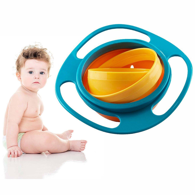 Nicht versch/ütten-F/ütterung-Kleinkind-Kreiselkompass-Sch/üssel 360 drehende Kinder Vermeiden Nahrungsmittelversch/ütten FunRun Gyro Bowl Kinder Dreht Sich des Kreisels