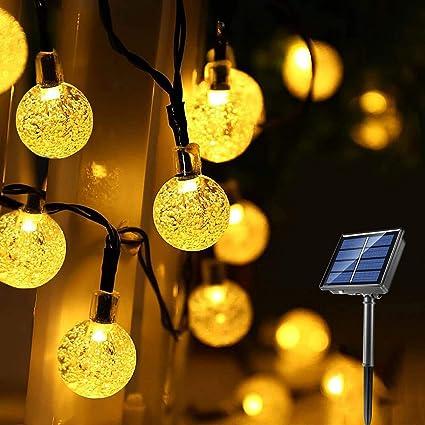 Solar Powered Retro Bulb String Lights For Garden Outdoor Fairy  Lamp Xmas Decor