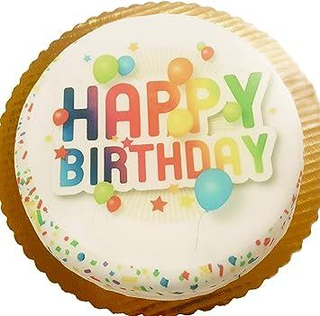 Chocolate Birthday Cake Confetti Design Usa Delivery Amazon Com