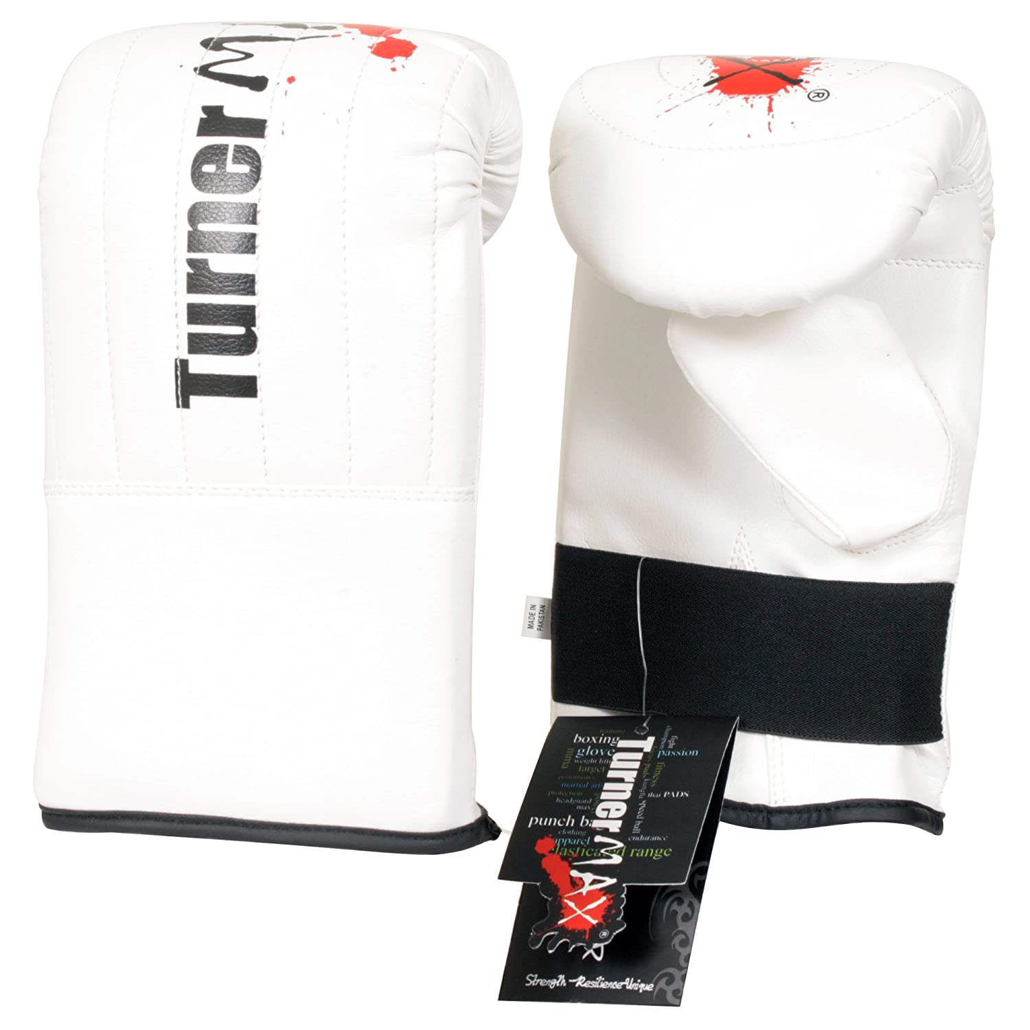 TurnerMAX Synthetic Leather Bag Mitts Glove MMA Fight Training Gym Exercise Punching Punch Mitts Small//Medium