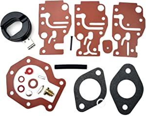 WINGOGO 439073 Carburetor Rebuild Kit with Float Replaces Johnson Evinrude OMC/BRP Outboard 6 8 9.9 15 20 25 30 35 HP 436359 431897 438397 436824 398508 398230 Carb