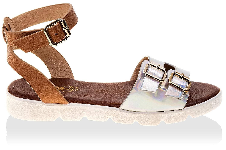 Kensie Girl Kids Double Buckle Metallic Sandal KG1616