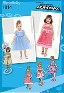 96506eaf207 Amazon.com: Simplicity Patterns US1171AA Toddlers' and Child's ...