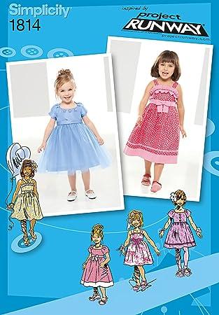 5b05faa9c5150 Simplicity Pattern 1814 Collection Project Runway Patrons de couture pour  robes de bébés et petites filles