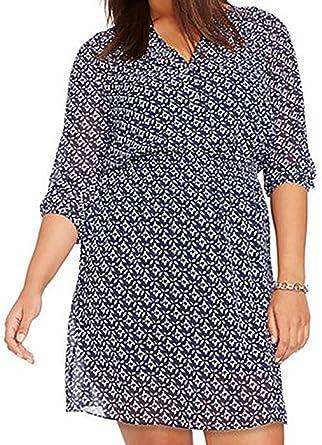 Lauren Ralph Lauren Plus Size Printed Georgette Dress (14W ...