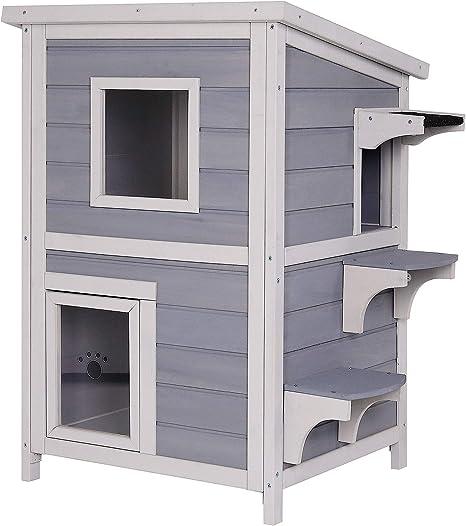 Maison pour chat cabane pour chat abri pour chat enclos pour chat en gris