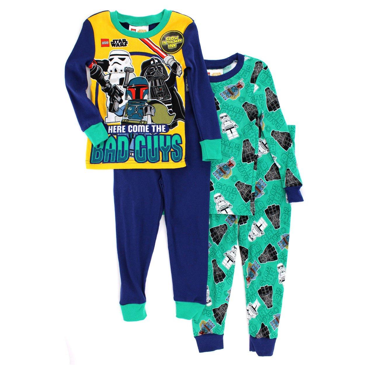 Amazon.com  Lego Star Wars Boys 2fer 4 pc Cotton Pajamas  Clothing 0c68ac40f