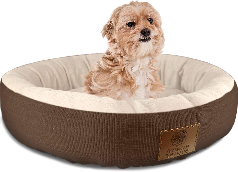 American Kennel Club AKC Casablanca Round Solid Pet Bed
