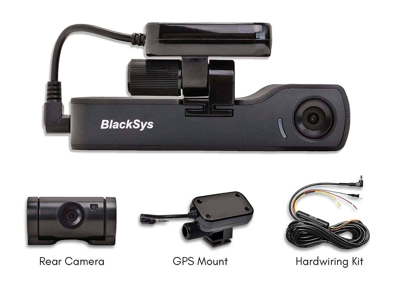 e7fe330fed0 Amazon.com  BlackSys CH-200 2 Channel Dash cam with 1920 x 1080p Full HD