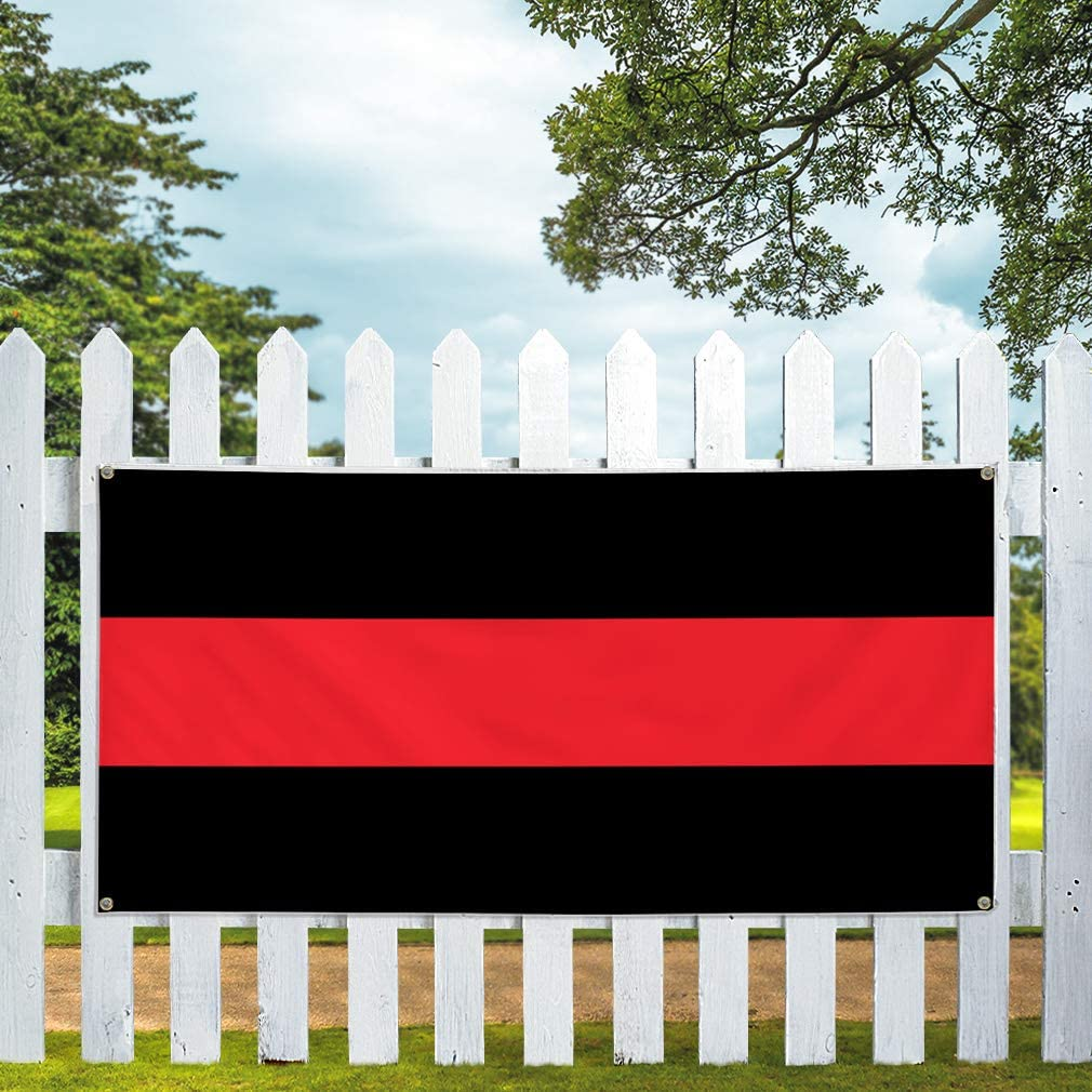 Vinyl Banner Multiple Sizes Red and Black Business Business Outdoor Weatherproof Industrial Yard Signs Black 10 Grommets 60x144Inches