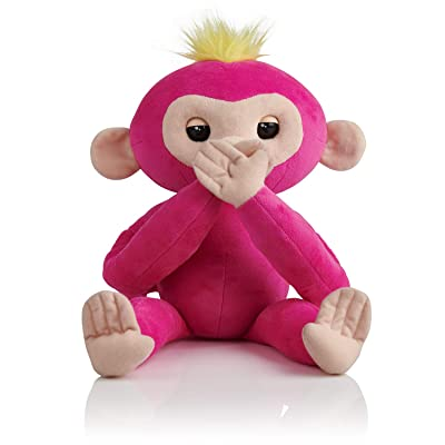 Fingerlings HUGS - Bella (Pink) - Advanced Interactive Plush Baby Monkey Pet - by WowWee: Toys & Games