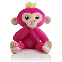 Fingerlings HUGS - Bella (Pink) - Advanced Interactive Plush Baby Monkey Pet - by WowWee