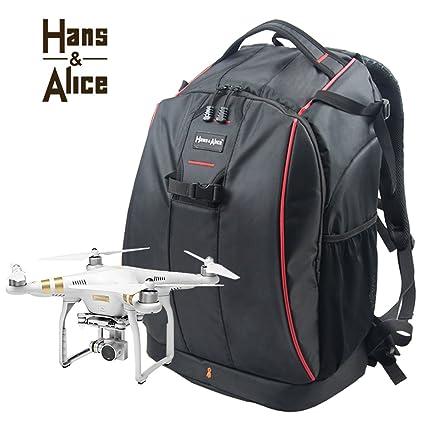 Drone mochila impermeable para DJI Phantom 3/Phantom 4 Drone cámara bolsa de transporte con
