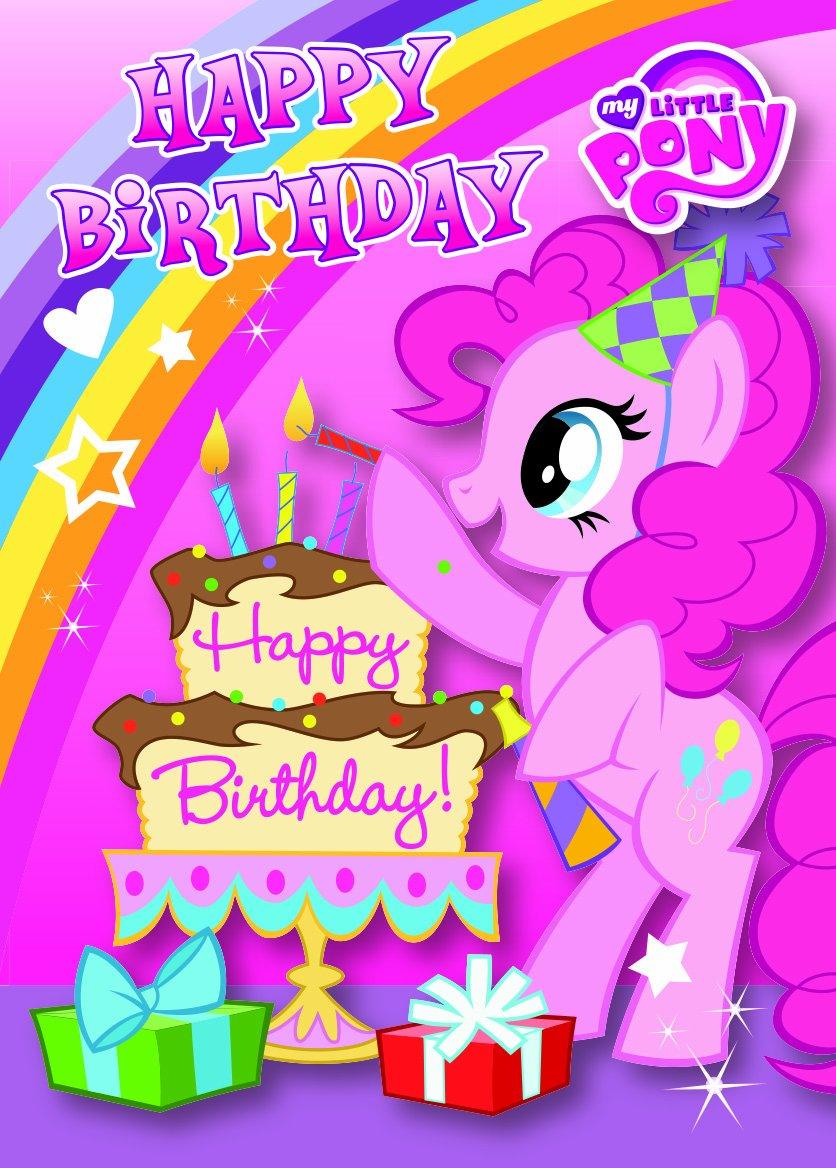 My Little Pony MP020 - Tarjeta de felicitación de cumpleaños con ...