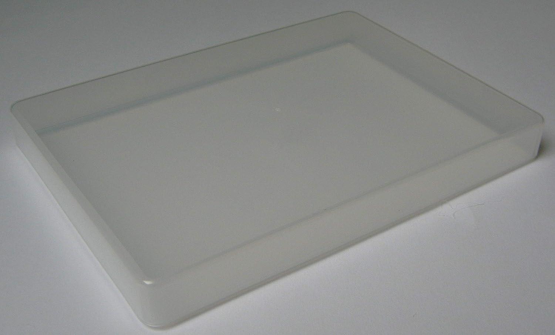 Variocolors 10 Stück A5 Slim Aufbewahrungsboxen aus transparentem Kunststoff A5 Multistorageboxen ca. 224x162x24mm