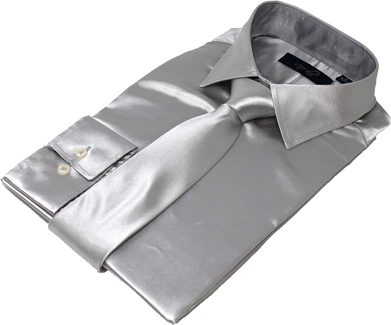 Mens Silk Satin Look Dress Shirt All Sizes UK S M L XL XXL All Colours Regular