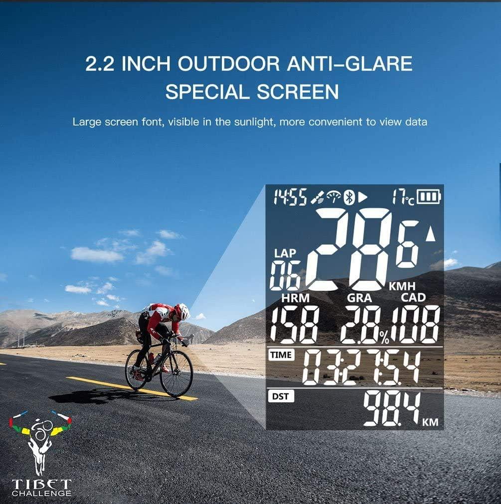 IGPSPORT Fahrrad Computer GPS Kilometerz/ähle Kabellos Tacho ANT IPX7 iGS50E