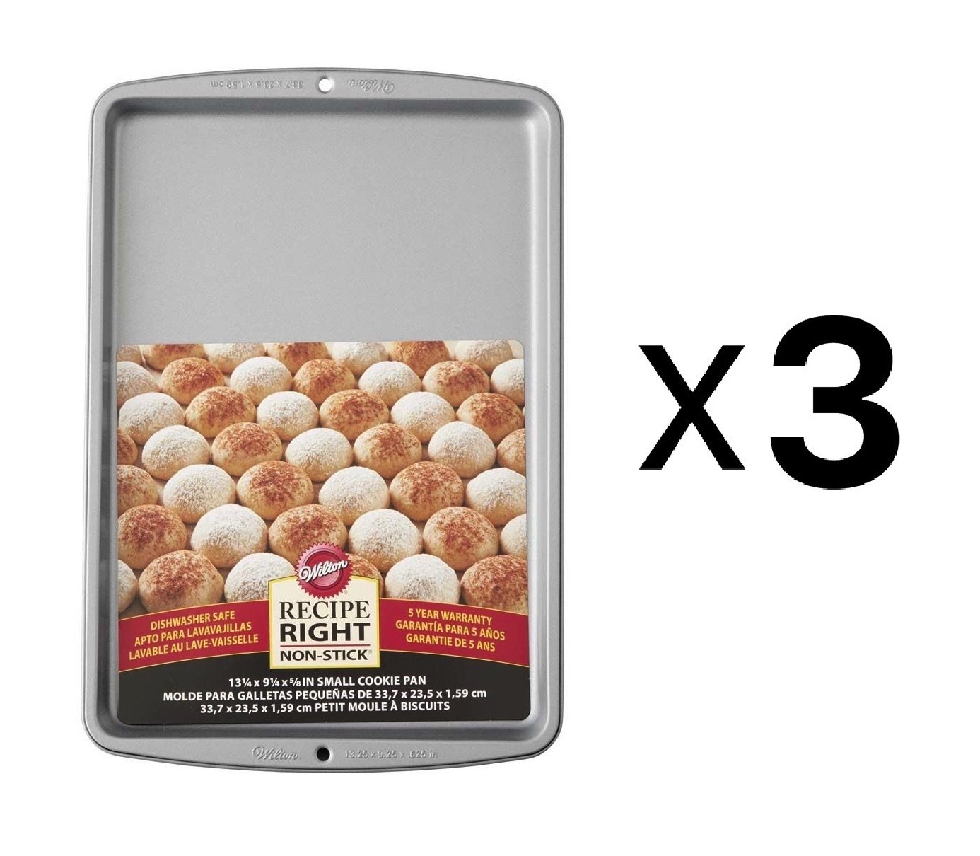 Wilton Bulk Buy Recipe Right Small Cookie Pan-13.25 inch x 9.25 (3-Pack)